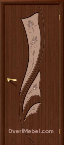 Межкомнатная шпонированная остекленная дверь Эксклюзив Шоколад