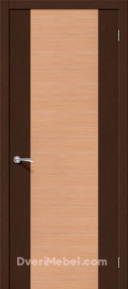 Межкомнатная шпонированная глухая дверь Этюд Дуб/Венге