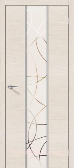Межкомнатная шпонированная остекленная дверь Карат БелДуб