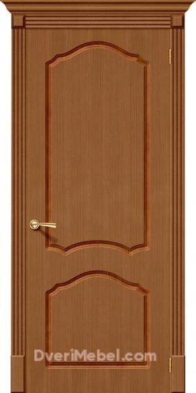 Межкомнатная шпонированная глухая дверь Каролина Орех