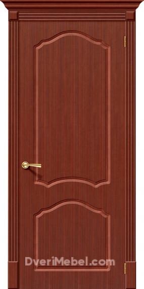 Межкомнатная шпонированная глухая дверь Каролина Макоре
