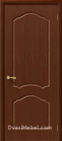 Межкомнатная шпонированная глухая дверь Каролина Шоколад