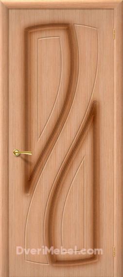 Межкомнатная шпонированная глухая дверь Лагуна Дуб