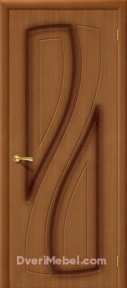 Межкомнатная шпонированная глухая дверь Лагуна Орех