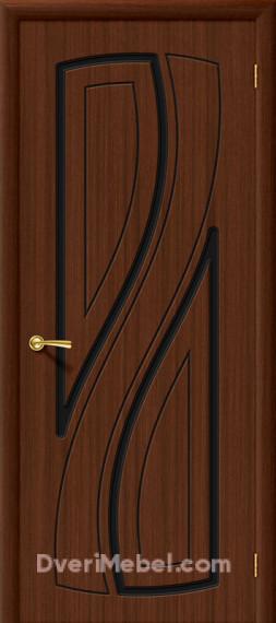 Межкомнатная шпонированная глухая дверь Лагуна Шоколад
