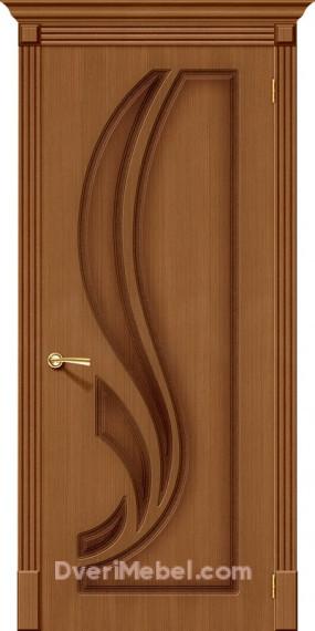 Межкомнатная шпонированная глухая дверь Лилия Орех