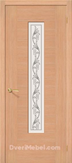 Межкомнатная шпонированная остекленная дверь Рондо Дуб