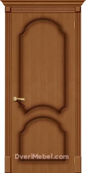 Межкомнатная шпонированная глухая дверь Соната Орех