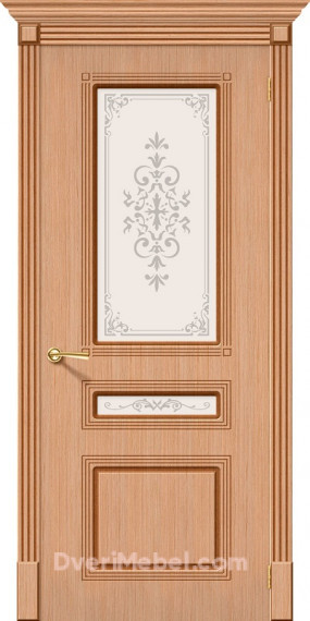 Межкомнатная шпонированная остекленная дверь Стиль Дуб