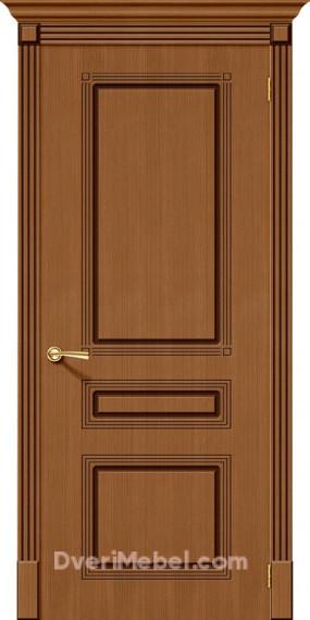 Межкомнатная шпонированная глухая дверь Стиль Орех