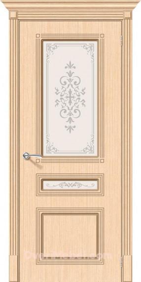 Межкомнатная шпонированная остекленная дверь Стиль БелДуб