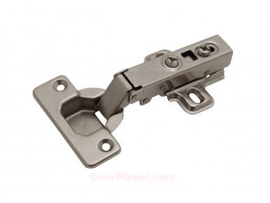 Петля Clip-on накладная с амортизатором D35 90° (с отв. планкой, угол откр. 110°)