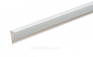 Планка для стенпанели торцевая ПВХ Белая