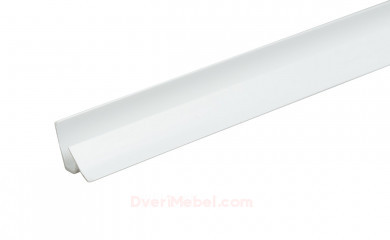 Планка для стенпанели угловая ПВХ Белая