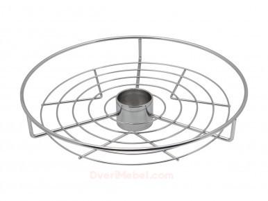 Полка круглая центральная стальная Тип-1 Хром