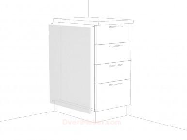Фасад боковой длянижнего шкафа ФТ716 Белый