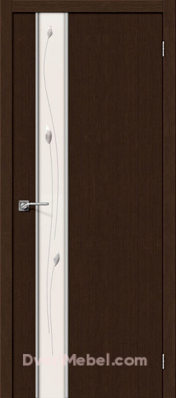 Межкомнатная дверь Финиш Флекс Глейс-1 Sprig 3D Wenge