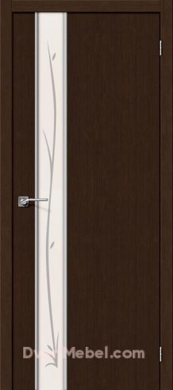 Межкомнатная дверь 3D-graf Глейс-1 Twig 3D Wenge