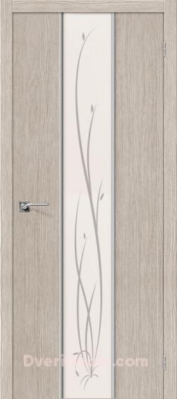 Межкомнатная дверь 3D-graf Глейс-2 Twig 3D Cappuccino