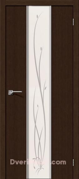 Межкомнатная дверь 3D-graf Глейс-2 Twig 3D Wenge