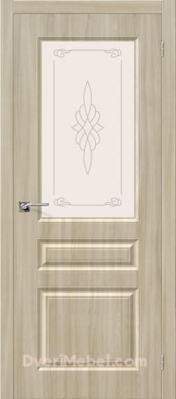 Межкомнатная дверь с пленкой ПВХ Статус-15 Шимо светлый