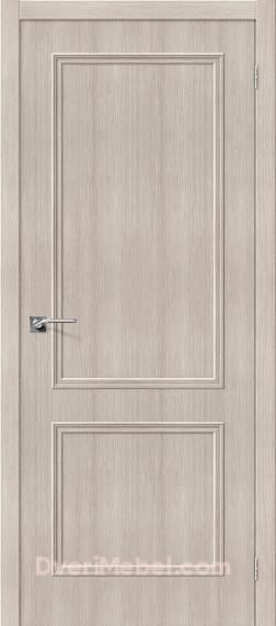 Межкомнатная дверь с экошпоном Симпл-12 Cappuccino Veralinga