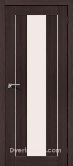 Межкомнатная дверь с экошпоном Порта-25 alu Wenge Veralinga