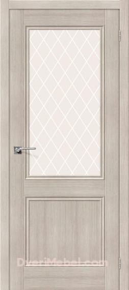 Межкомнатная дверь с экошпоном Порта-63 Cappuccino Veralinga