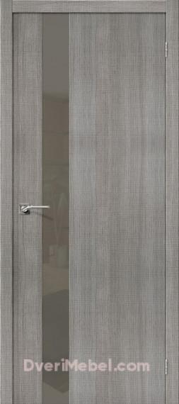 Межкомнатная дверь с экошпоном Порта-51 S Grey Crosscut