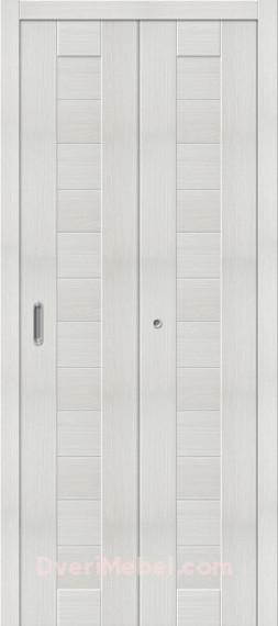 Складная дверь с Экошпоном Порта-21 Bianco Veralinga