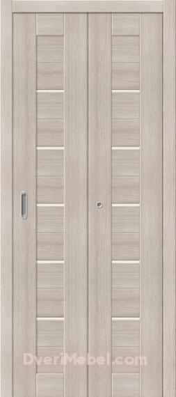 Межкомнатная складная дверь с экошпоном Порта-22 Cappuccino Veralinga