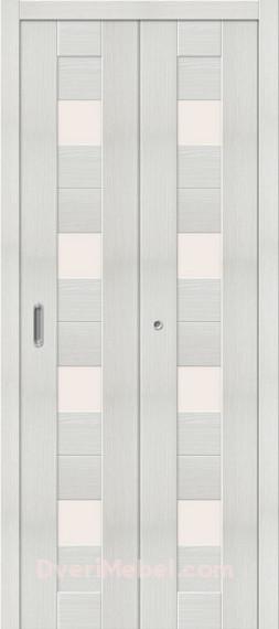 Складная дверь с Экошпоном Порта-23 Bianco Veralinga