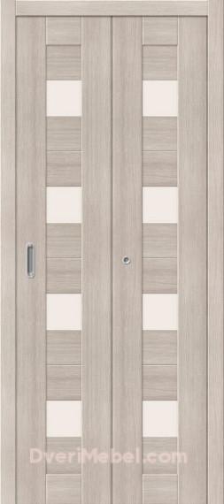 Межкомнатная складная дверь с экошпоном Порта-23 Cappuccino Veralinga