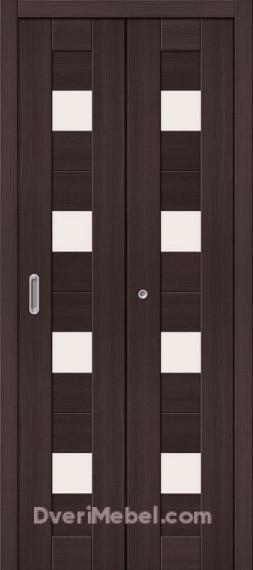 Межкомнатная складная дверь с экошпоном Порта-23 Wenge Veralinga