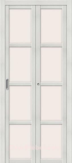 Складная дверь с Экошпоном Твигги V4 Bianco Veralinga