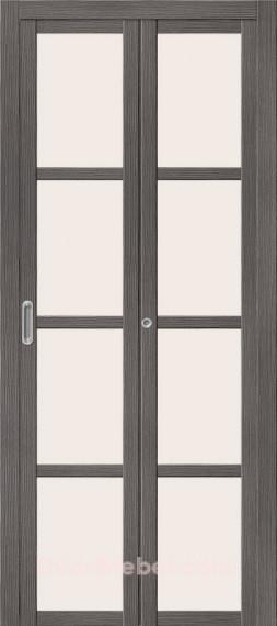 Складная дверь с Экошпоном Твигги V4 Grey Veralinga