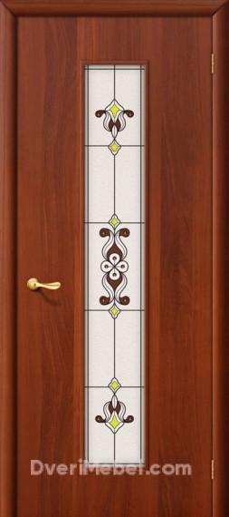 Межкомнатная ламинированная дверь 23Х итальянский орех
