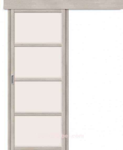 Межкомнатная дверь с Экошпоном Твигги V4 Cappuccino Veralinga