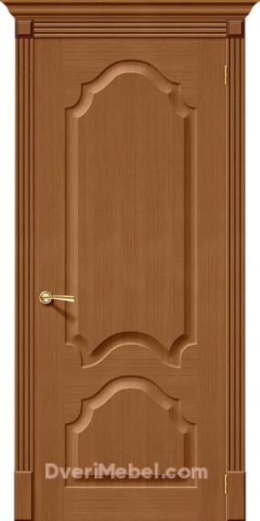 Межкомнатная шпонированная глухая дверь Афина Орех