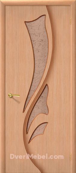 Межкомнатная шпонированная остекленная дверь Эксклюзив Дуб
