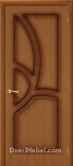 Межкомнатная шпонированная глухая дверь Греция Орех