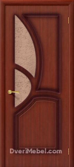 Межкомнатная шпонированная остекленная дверь Греция Макоре
