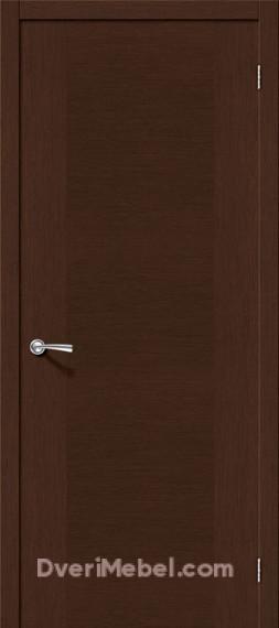 Межкомнатная шпонированная глухая дверь Рондо Венге