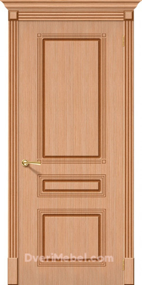 Межкомнатная шпонированная глухая дверь Стиль Дуб